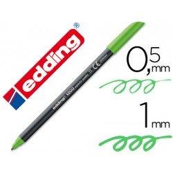 Rotulador Edding 1200 verde claro nº 11