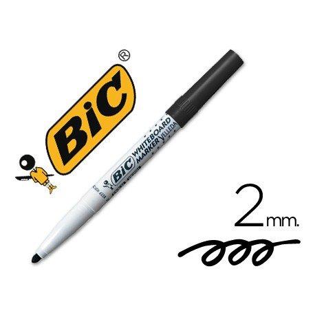 Rotulador Bic velleda para pizarra color Negro 2 mm