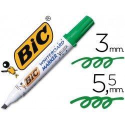 Rotulador Bic Velleda verde