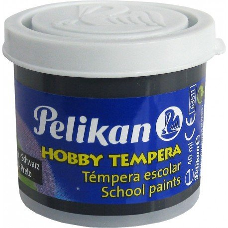 Tempera Pelikan color negro 40 cc