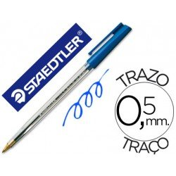 Bolígrafo Staedtler stick azul 0,5 mm