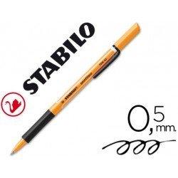 Rotulador-bolígrafo Stabilo roller visco negro 0,5 mm.