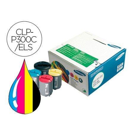 Tóner Samsung laser negro y color CLP-P300C/ELS, impresoras CLP-300, CLX-2160