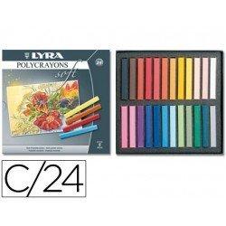 Tizas pastel Lyra caja de 24 unidades