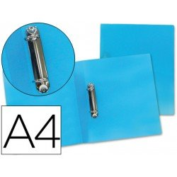 Carpeta Beautone 2 anillas mixtas 25 mm Din-A4 azul