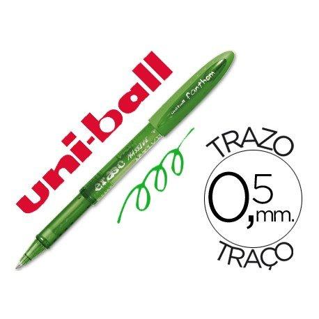 Boligrafo Borrable Uni-ball UF-202 Fanthom color verde 0,5 mm