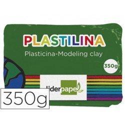 Plastilina Liderpapel color verde oscuro grande