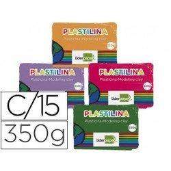 Plastilina Liderpapel Colores surtidos Grande Caja 15