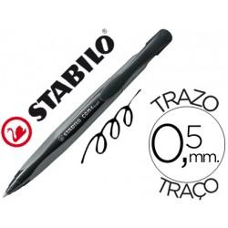 Boligrafo Stabilo com4 tinta negra retractil 0,5 mm