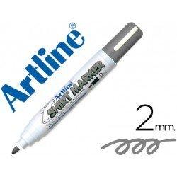 Rotulador para tela textil Artline color gris