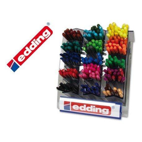 Expositor 200 Rotuladores Edding 1200 con colores surtidos