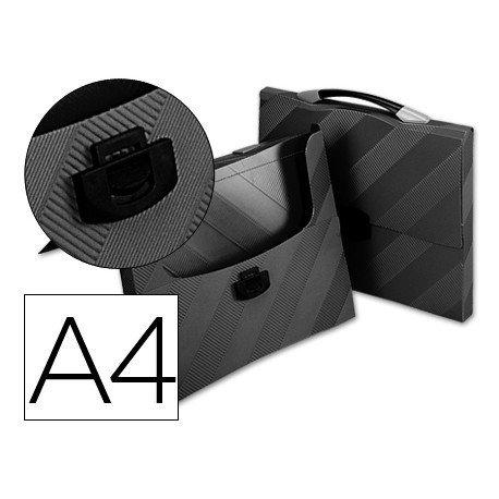 Carpeta Beautone portadocumentos broche 34606 polipropileno din a4 negro con asa
