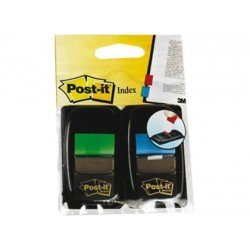 Blister Post-it ® Index mediano colores verde/azul