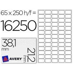 Etiqueta adhesiva marca Avery 38,1 x 21,2 mm