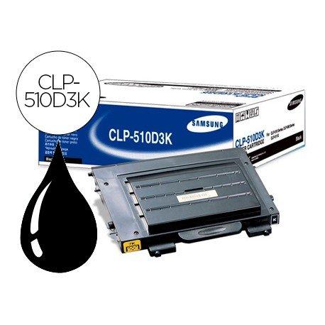 Toner Samsung laser (CLP-510D3K) negro CLP-510 CLP-510n