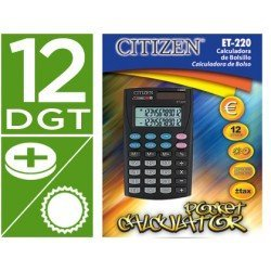 Calculadora Bolsillo Citizen Modelo ET-220 12 digitos