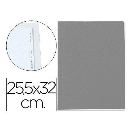 Carpeta lomo simple con 5 indices gris