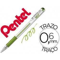 Boligrafo Pentel K116 hybrid verde claro 0,6 mm