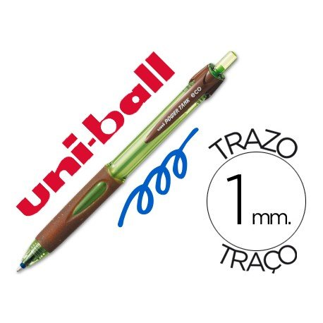 Bolígrafo marca Uni-ball power tank eco azul 1mm