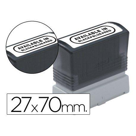 Etiquetas para sellos marca Brother 27x70 mm
