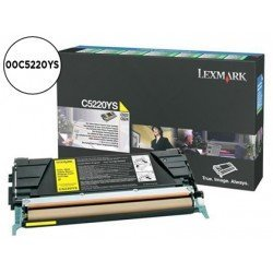 Toner Lexmark 00C5220YS color amarillo
