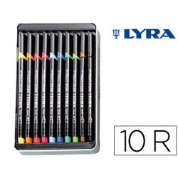 Rotulador Lyra hi-quality art pen10 colores