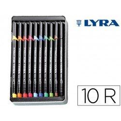 Rotulador Lyra hi-quality art pen10 colores