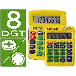 Calculadora sobremesa Citizen Modelo SDC-450 + lC-110 amarillo