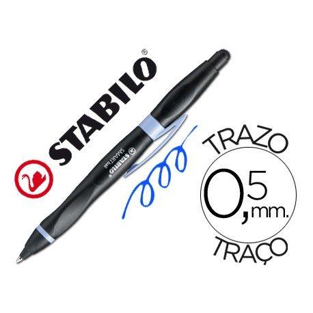 Boligrafo Stabilo Smartball azul para zurdos 0,5 mm