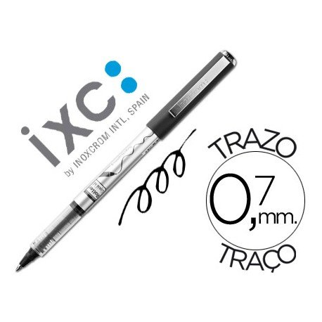 Boligrafo roller Inoxcrom free ink office campus negro 0,7mm