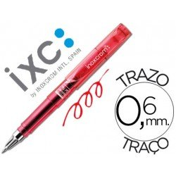 Rotulador roller Inoxcrom short gel office campus rojo