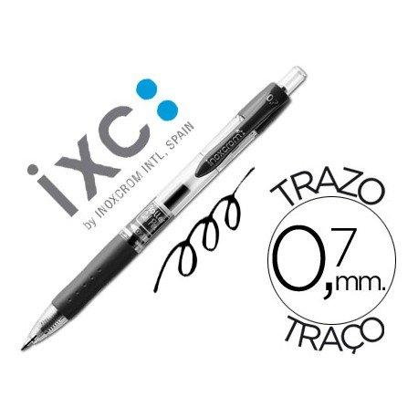 Boligrafo roller Inoxcrom gel campus negro 0,7 mm