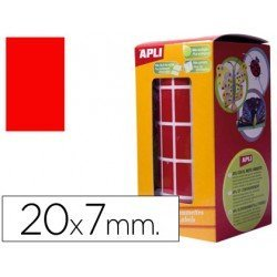 Gomets Apli Rectangulares color rojo 20x7mm