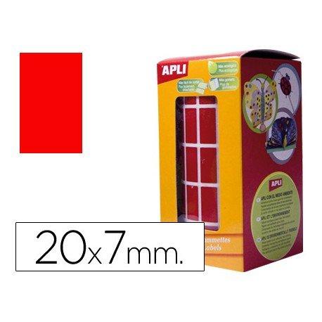 Gomets Apli Rectangulares color rojo 20x7mm