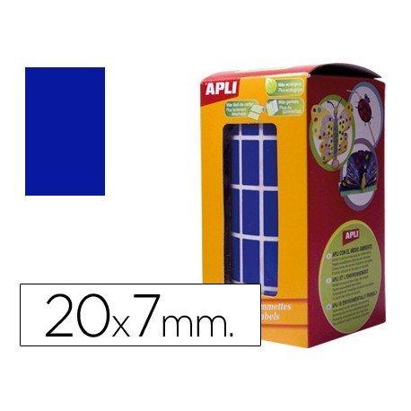 Gomets Apli Rectangulares color Azul 20x7mm