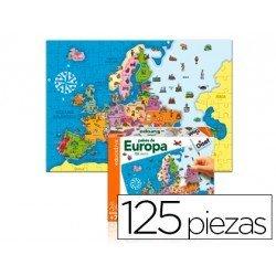 Puzzle paises de Europa a partir de 3 años de 125 piezas Goula