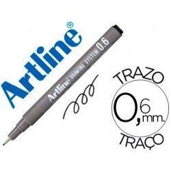 Rotulador Artline calibrado micrometrico negro de 0,6 mm