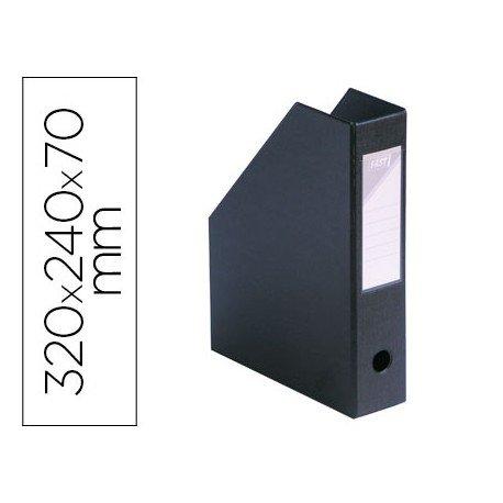 Revistero plastico Elba negro 32x24x7 cm