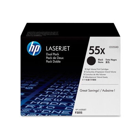 Toner HP 55X CE255XD color Negro