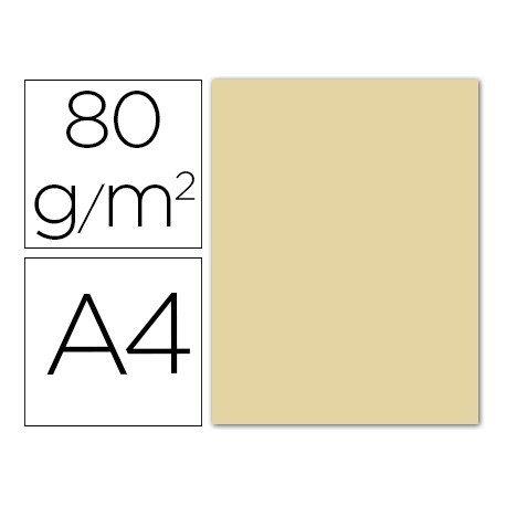 Papel color Liderpapel color crema A4 80g/m2