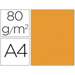 Papel color Liderpapel color naranja A4 80g/m2
