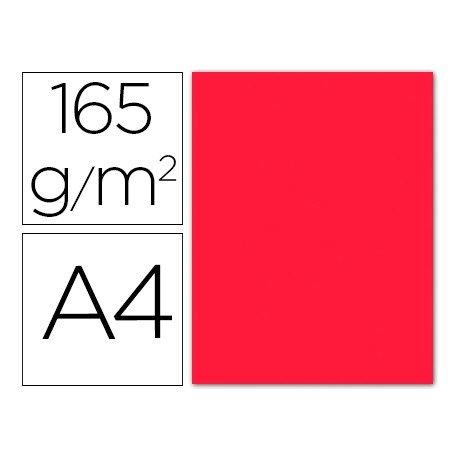 Papel color Liderpapel color rojo A4 165g/m2