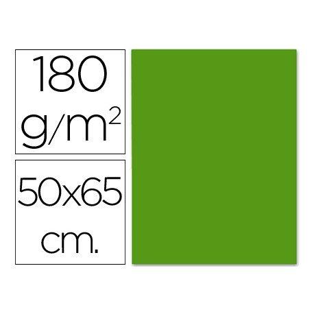 Cartulina Liderpapel color verde navidad 50x65 cm 180g/m2