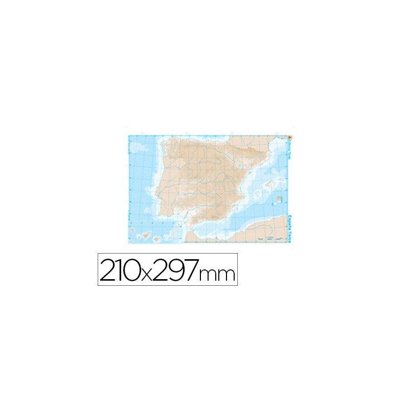 Mapas mudos y diccionarios espaol ingls etc materialescolar mapa mudo de espaa fisico blanco y negro urtaz Choice Image