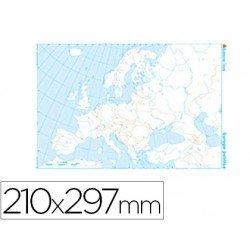 Mapa mudo de Europa politico blanco y negro