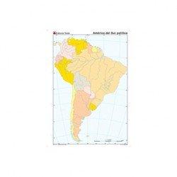Mapa mudo de America del Sur politico