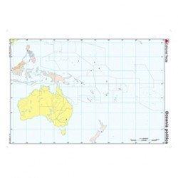 Mapa mudo de Oceania politico