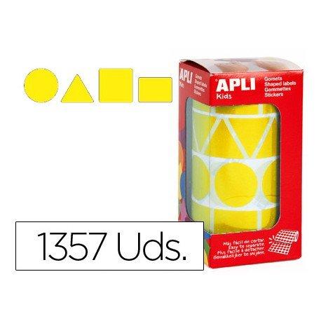 Gomets Apli Figuras geométricas color Amarillo XL