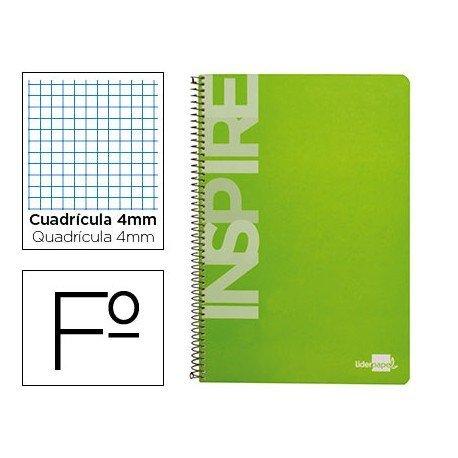 Bloc Liderpapel serie Inspire Folio verde claro