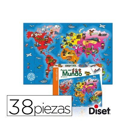 Puzzle a partir de 4 años Paises del mundo Diset